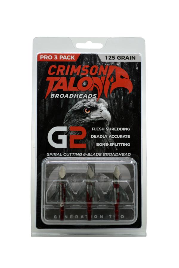 pack of three Crimson Talon G2 Spintite 125 grain broadheads